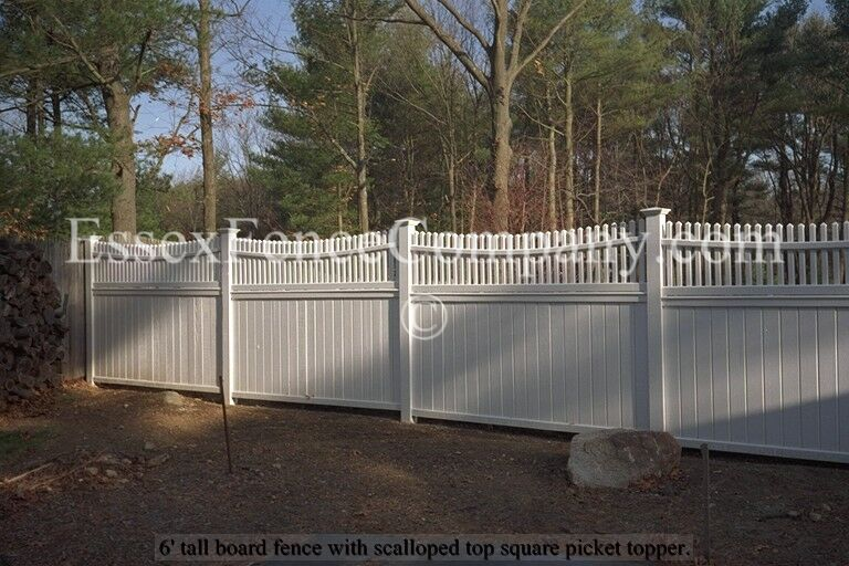 Board And Square Picket Top Fences Essex Fence Company