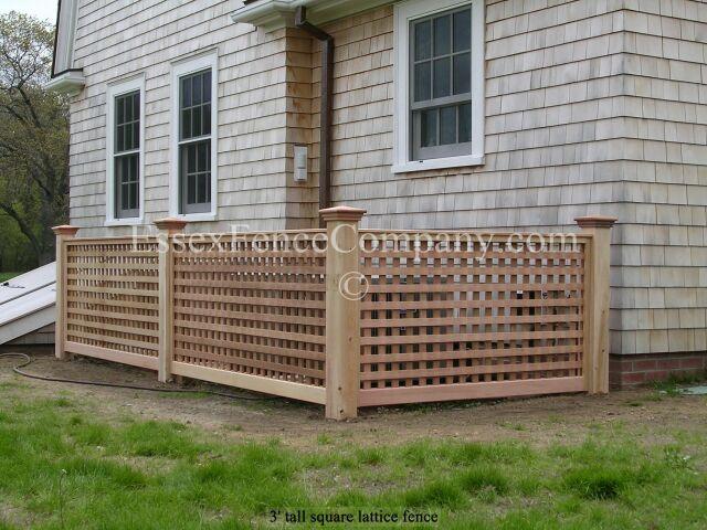 Board And Lattice Fences Essex Fence Company