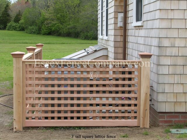 Board And Lattice Fences Essex Fence Company