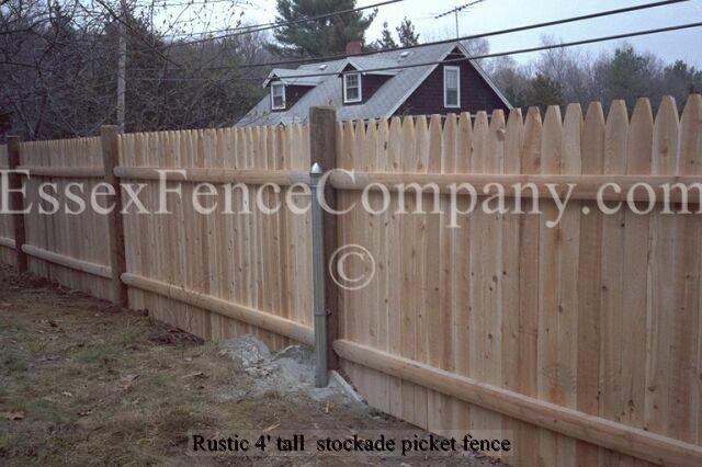 Rustic Picket Stockade Fences Essex Fence Company